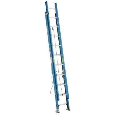 Werner 20-ft Fiberglass Extension Ladder
