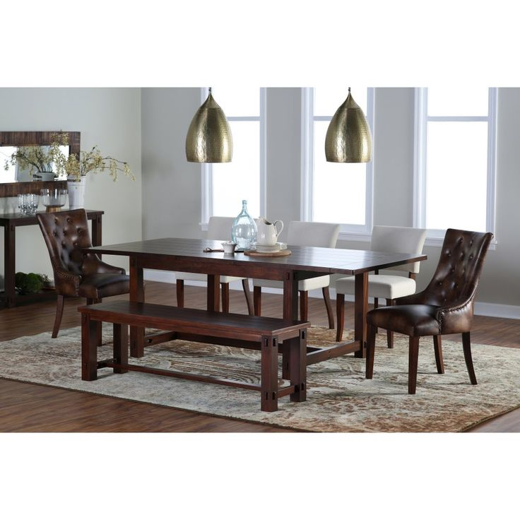 Belham Living 6 Piece Bartlett Dining Table Set With Thomas Chairs Hayneedle Exclusive