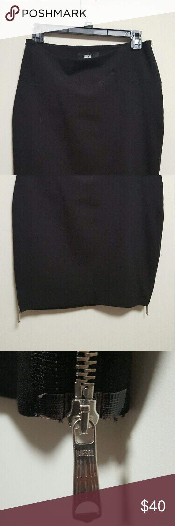 "Diesel skirt size medium Great condition, zipper on both sides. Hips -17"", length -13"". Diesel Skirts Mini"