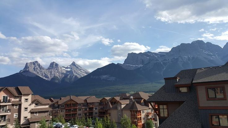 The view from Solara Resort in Canmore, AB