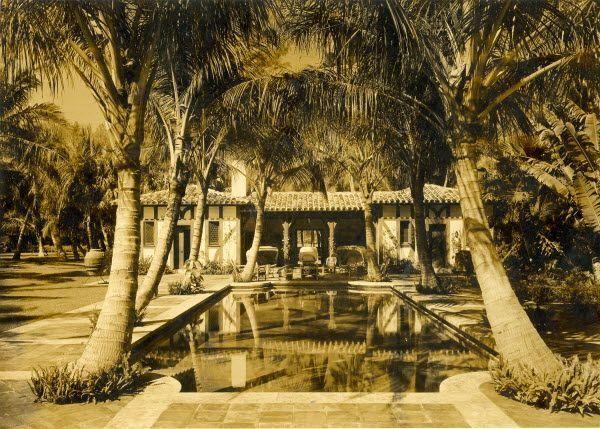 Consuelo Vanderbilt Pool Area At Casa Alva Manalapan
