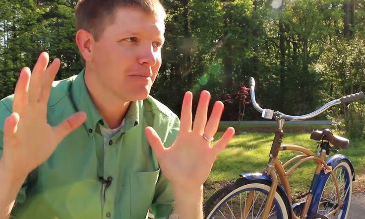 Homem cria bicicleta com direções trocadas que ninguém consegue pedalar e prova o poder da mente