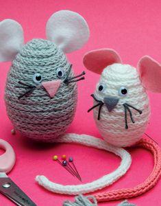 Modèle Souris et Souricette en tricotins