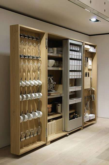 Secret compartment cabinets glasses cabinets and in the us for Bulthaup kitchen cabinets
