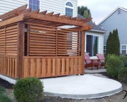 outdoor louvered spa enclosure finished - Hot Tub Enclosures