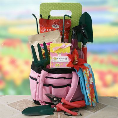 Gift Basket Ideas For Gardeners gardening gift baskets with tools treats a knee pad Gardening Gift Ideas April Showers Gardening Gift Basket