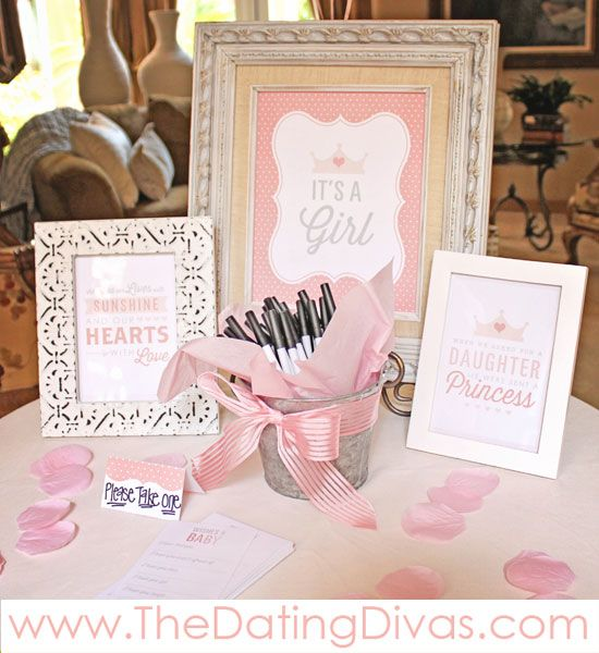 Pretty In Pink Baby Shower Theme Printables Printable