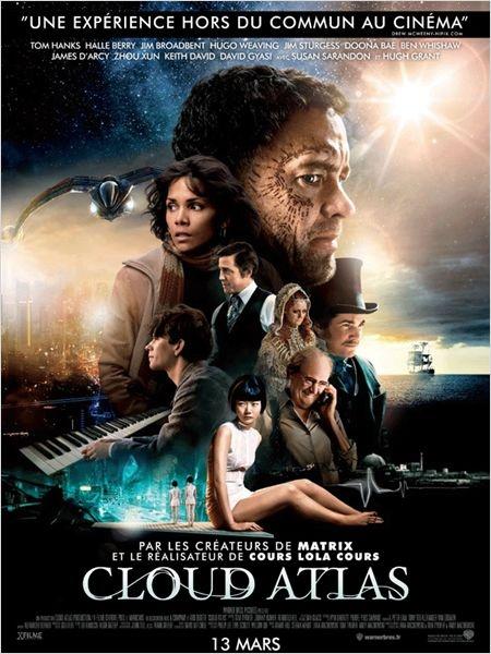 """Film grandiose """"Cloud Atlas"""" : Lana Wachowski, Tom Tykwer, Andy Wachowski. AvecTom Hanks -> À travers une histoire qui se déroule sur cinq siècles dans plusieurs espaces temps, des êtres se croisent et se retrouvent d'une vie à l'autre, naissant et renaissant successivement… ."""