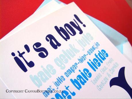 It's a boy! - Canvas Stationery Boutique