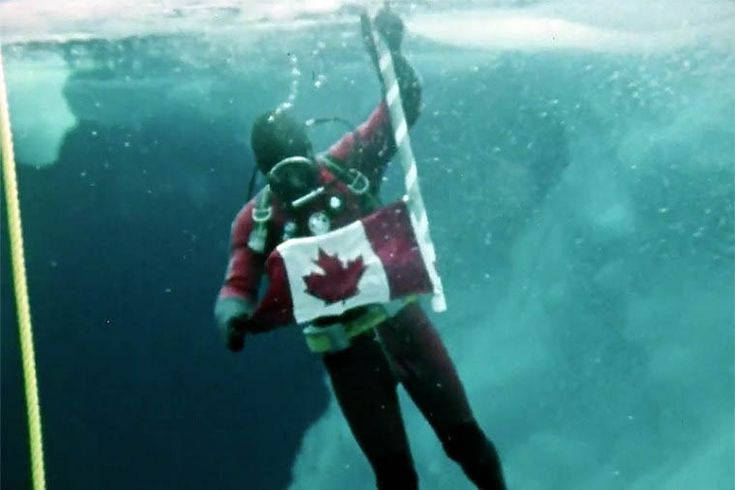 Canada First dive at the North Pole