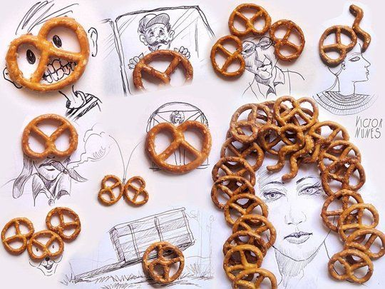 Ordinary Food Makes For Beautiful Additions to Creative Sketches