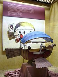 A Passarola num modelo em escala 1:10 da, exposta no Museo Nacional Aeronáutico y del Espacio de Chile.