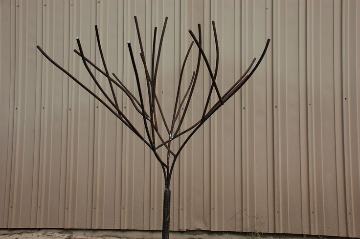 how to make a bottle tree out of rebar