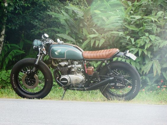 Honda Cb... Awesome green/ brown combi...