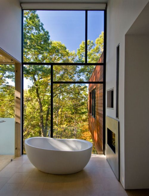 LOVE window design and sculpture tub