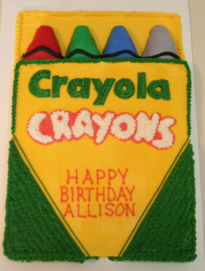 Box of Crayola Crayons Cake