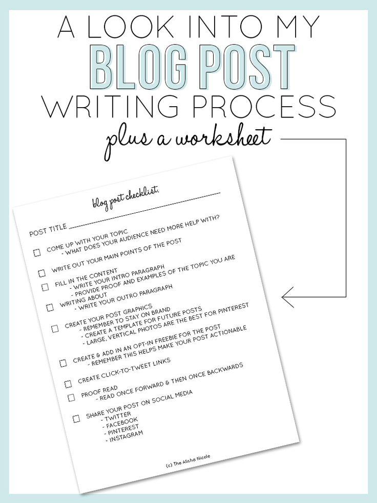 A Look Into My Blog Post Writing Process — The Alisha Nicole