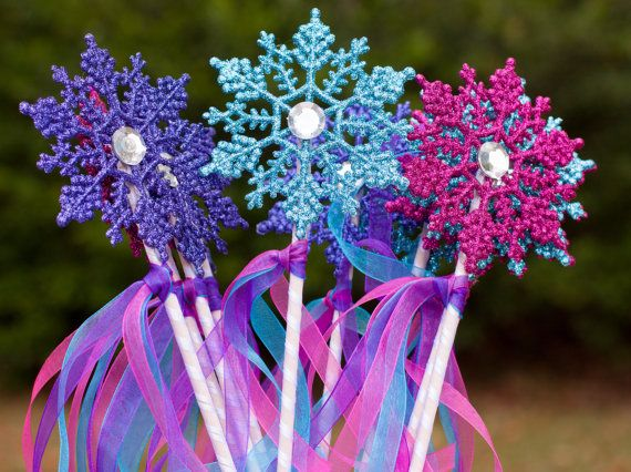 Frozen Birthday Party Snowflake Wands Party by GracesGardens