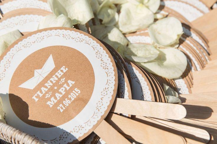 Custom made wedding fans. Rustic wedding stationary ideas