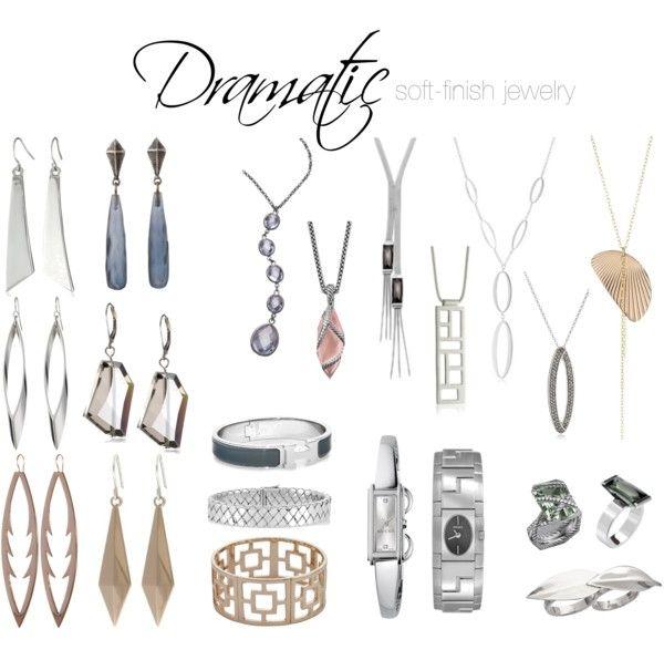 Dramatic soft-finish jewelry