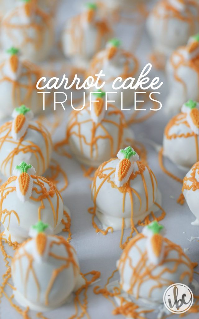 Carrot Cake Truffles for spring and Easter dessert - carrot cake pos | Inspired by Charm