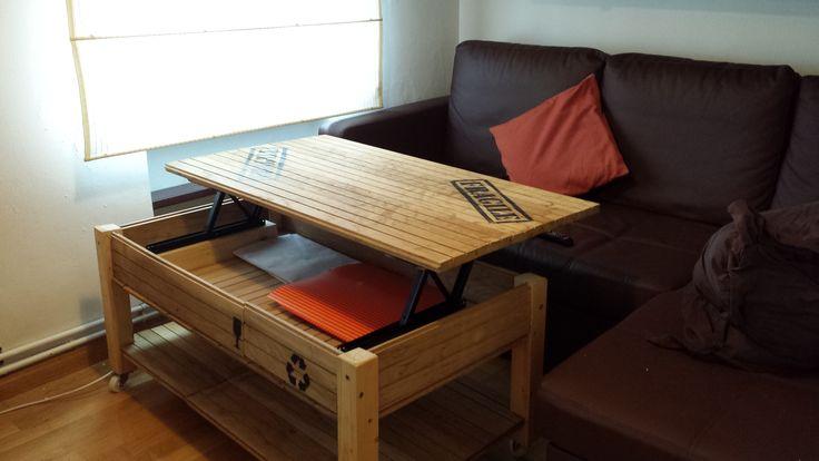 Paso a paso de una mesa elevable estilo industrial hecha for Como hacer una mesa estilo industrial