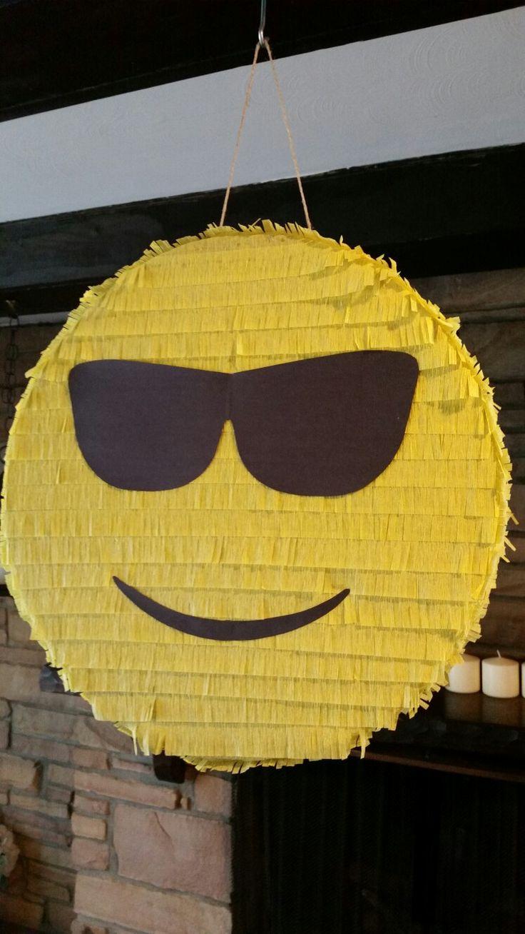Sunglasses emoji piñata