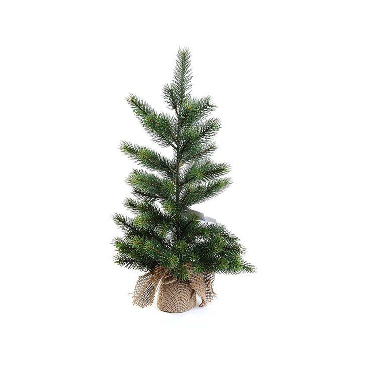 Tannenbaum im Jutesack Kunststoff grün von Depot
