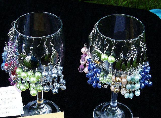 Wineglass earring display