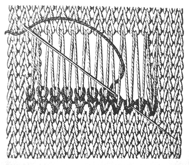 'Swiss darning'; in the example above you can see how to fix a hole in a knitted cloth,