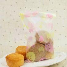 100 pcs 12 * 20 cm qualidade alimentar polonês maçante bolha de biscoito de plástico sacos coloridos bolo sobremesa sacos de embalagem saco de doces de casamento(China (Mainland))