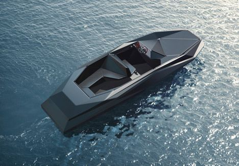 Zaha Hadid - Z-Boat limited edition speedboat commissioned for art dealer Kenny Schachter