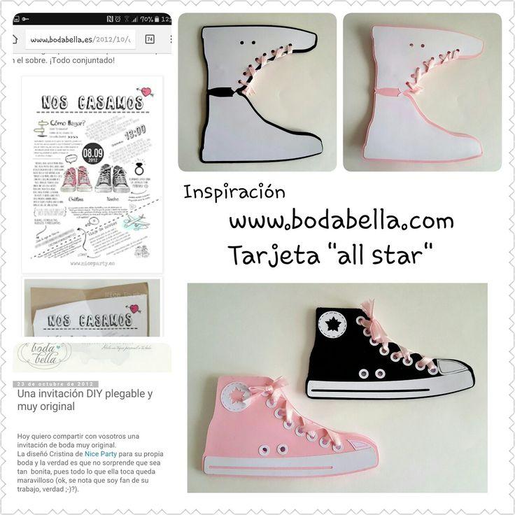 """Tarjetas """"all stars"""" inspirandome a una invitacion super bonita de www.bodabella.es"""