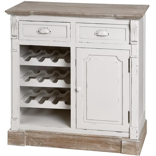This beautiful winerack is part of the lovely Farmhouse Cottage Collection and is not only handmade but also carefully hand painted to give its distinctive shabby chic, distressed finish. Featuring two drawers, one cupboard and a wine rack, it boasts ample storage as well as elegance, perfect for any hallway, lounge, dining room or kitchen. | eBay!