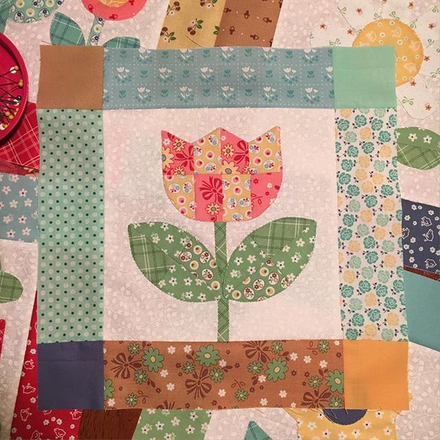 My scrappy happy #bloomblockeleven I love how cute it turned out #bloomsewalong #scrappyissewmuchmorefun