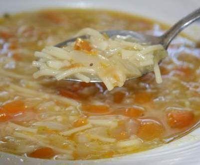 Recette soupe de légumes aux vermicelles par aurore.bb - recette de la catégorie Soupes