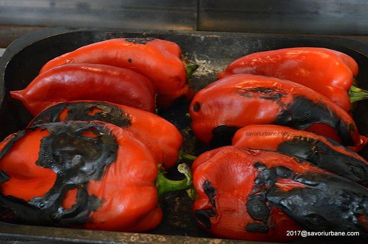 Pasta de ardei copti cu usturoi la borcan reteta de lutenita, liutenita sau lutenitsa. Un fel de zacusca bulgareasca, macedoneana sau sarbeasca foarte buna