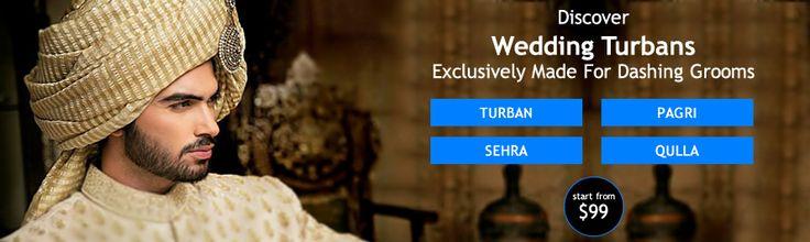 All eyes will be on you in this stunning #Designer Wedding Turban #Pagri http://www.needlehole.com/men-wedding-sherwani-salwar-kameez-turbans/turbans.html?utm_content=kuku.io&utm_medium=social&utm_source=www.pinterest.com&utm_campaign=kuku.io