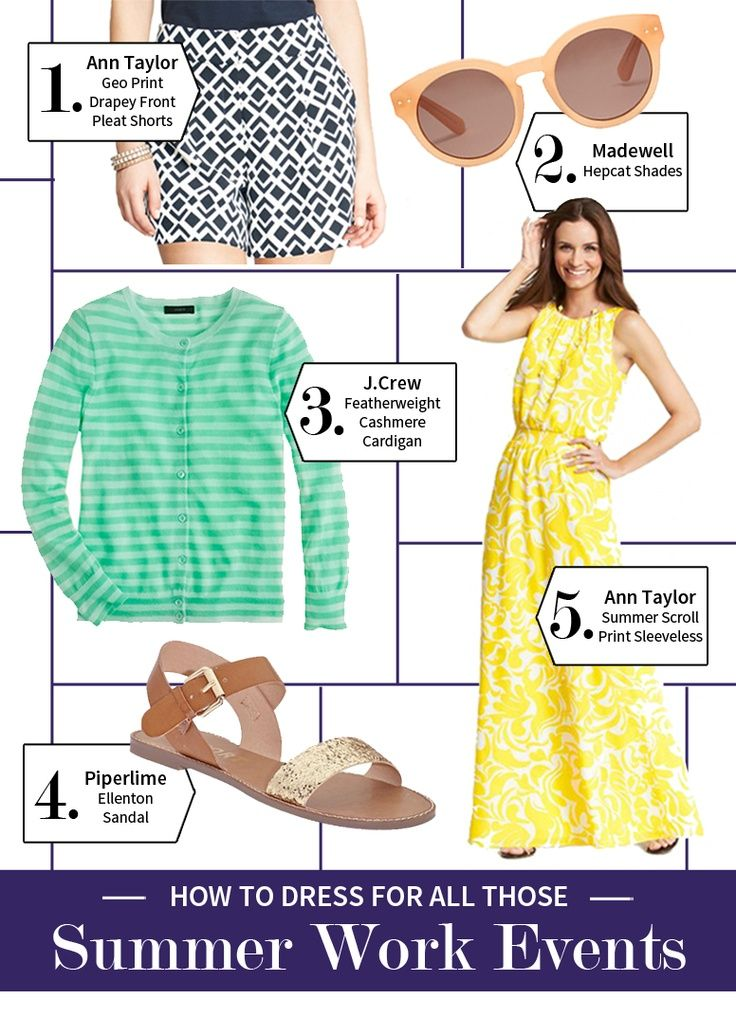 What to wear to summer work events! – #events #summer #wear #Work