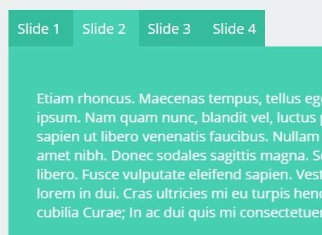 jqSlide is a lightweight, responsive jQuery content slider plugin which automatically switches between select-like slider and tabs-like slider based on the screen width.