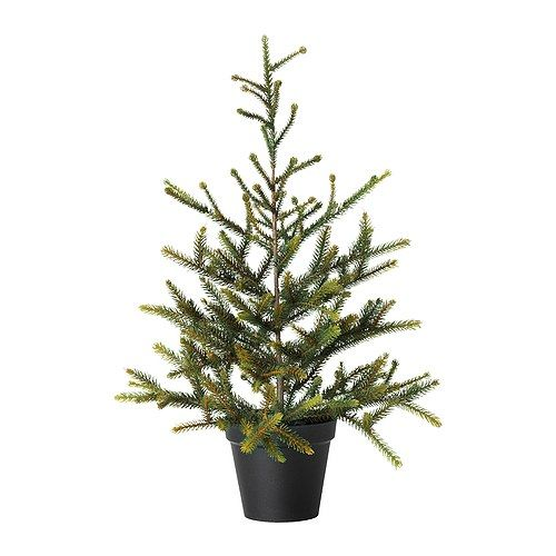"""IKEA - FEJKA, Artificial potted plant, A perfect Christmas tree if you don't want to clean up fallen needles or if you live in a small space. $15 4.75"""""""