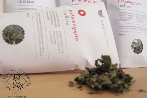 www.deliinabox.gr Melissa organic herb.