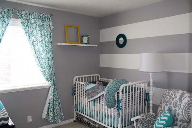 Gray And Turquoise Nursery Thenurseries