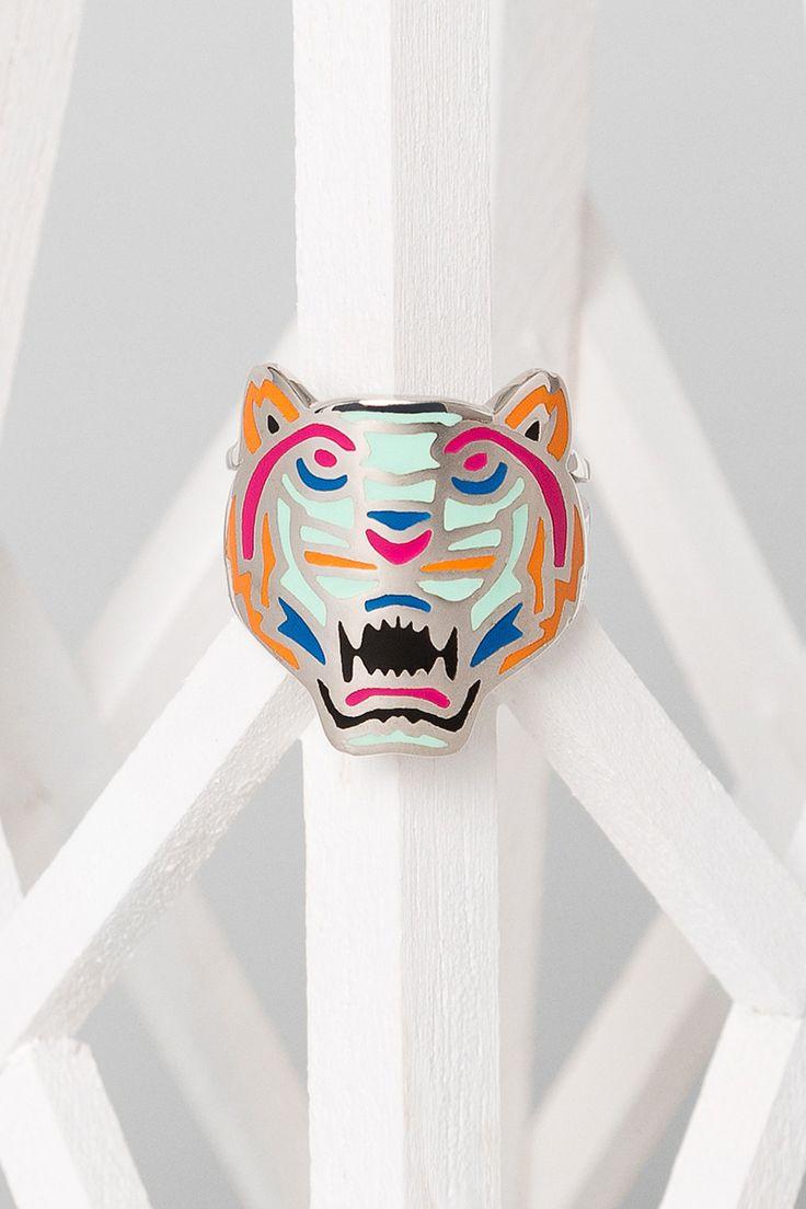 NEW! Kenzo Multicolor Tiger Ring - Kenzo Jewelry Women - Kenzo E-shop