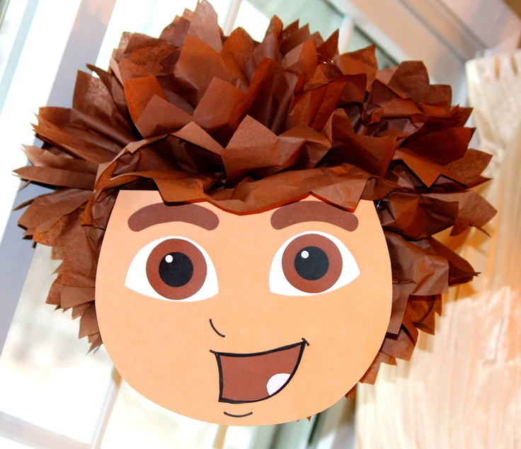 Go Diego Go pom pom kit party decoration