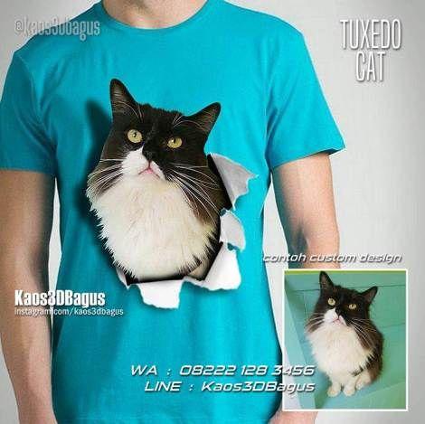 Kaos KUCING, Kaos TUXEDO CAT, Kaos CAT LOVERS, Kaos Penyayang Kucing, Kaos Gambar Kucing, Kaos Kucing Lucu, Kitten Lover, https://instagram.com/kaos3dbagus, WA : 08222 128 3456, LINE : Kaos3DBagus