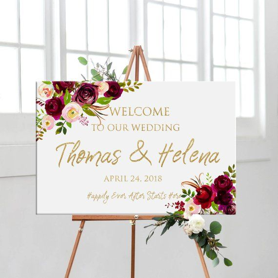 Christening Baptism Church Personalised White Pink Gold Printable Welcome Sign