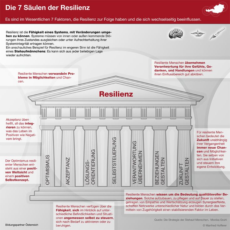 Die 7 Säulen der #Resilienz - Machen Sie etwas daraus :-)