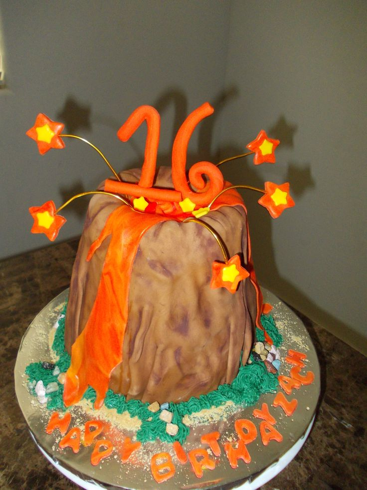 How To Make An Edible Volcano Cake That Erupts