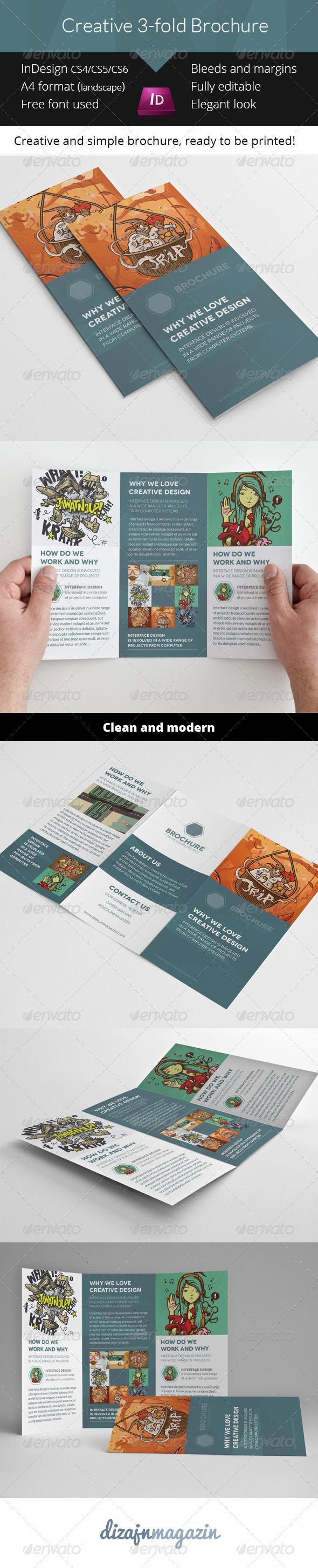 indesign 3 fold brochure template - 66 best images about adobe indesign on pinterest adobe